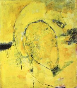 yellow untitled painting - 150 x 130 cm - 59 x 52 in - acrylic on canvas - 2016