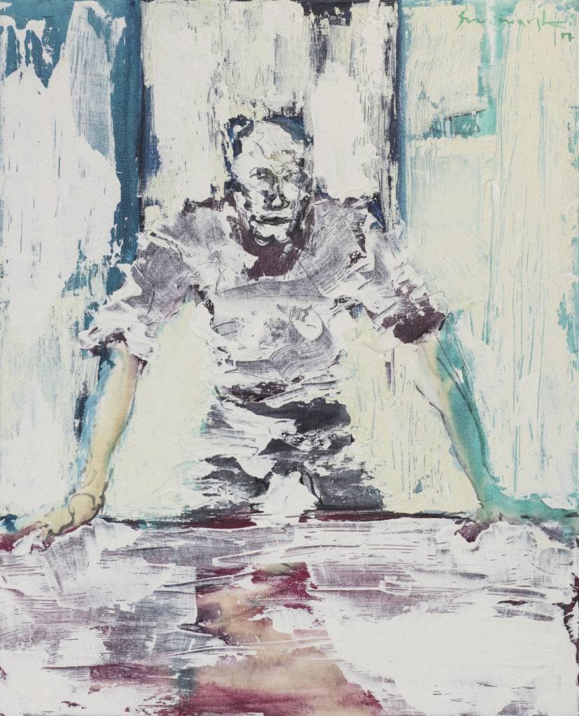Bez tytułu - Tadeusz Świniarski (2017), obraz akrylowy na płótnie