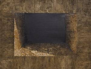 Z cyklu Materia ciszy - Ewa Zawadzka (2011), obraz na płótnie wykonany techniką własną