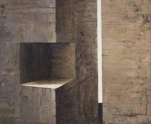 Z cyklu Materia ciszy - Ewa Zawadzka (2016), obraz na płótnie wykonany techniką własną