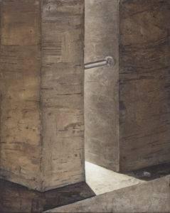 Z cyklu Materia ciszy - Ewa Zawadzka (2017), obraz na płótnie wykonany techniką własną