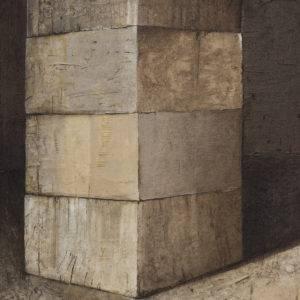 Z cyklu Materia ciszy - Ewa Zawadzka (2013), obraz na płótnie wykonany techniką własną