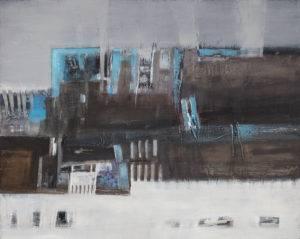 Metropolizm 20 - Renata Kluczyńska (2016), obraz akrylowy na płótnie