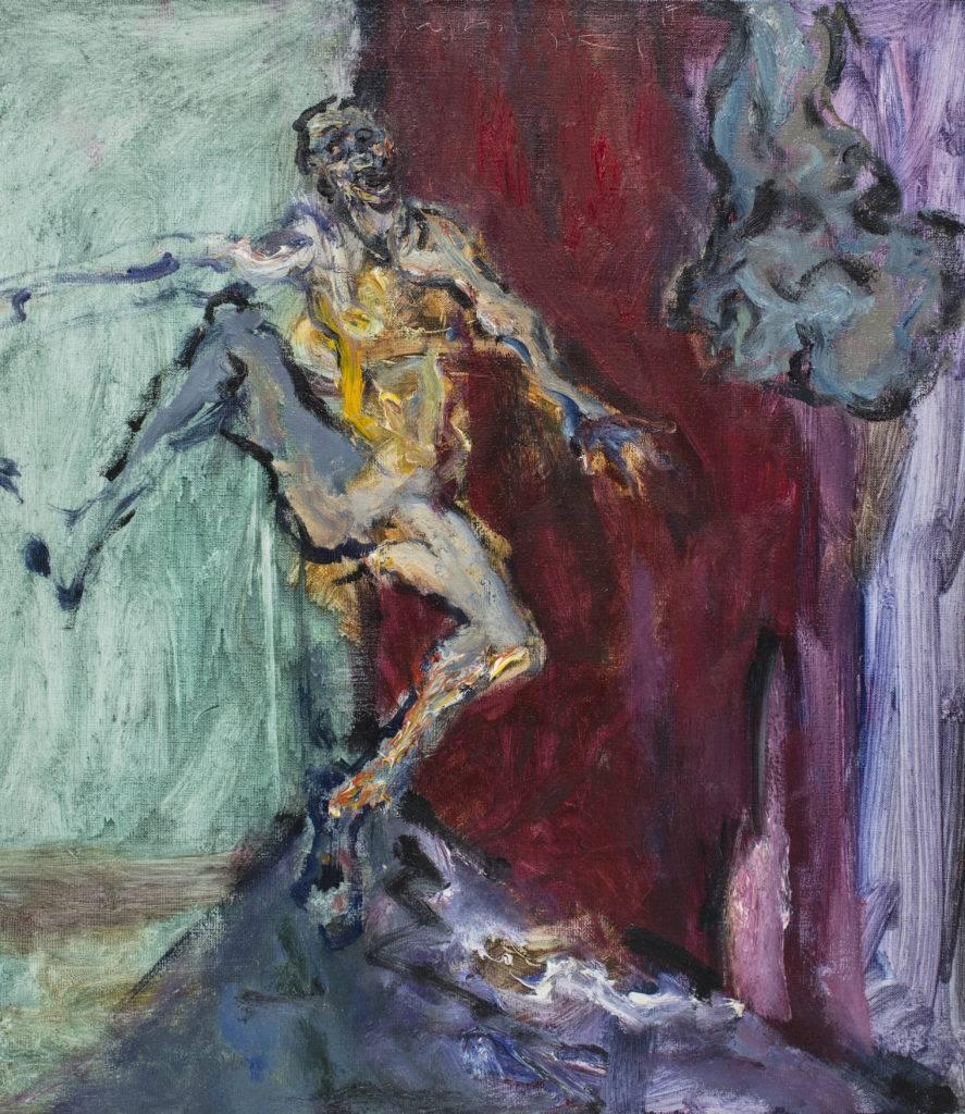 Zielona głowa - Tadeusz Świniarski (2017), obraz olejny na płótnie