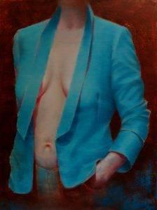 Garderoba 2, olej na płótnie, 80x60cm, 2017r