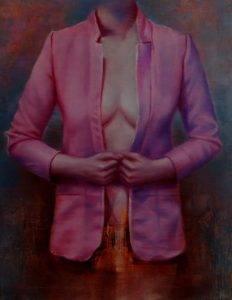 Garderoba 3, olej na płótnie, 90x70cm, 2017r