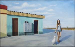 Goose girl - Łukasz Ratajczyk (2013), obraz olejny na płótnie