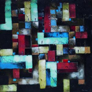 Zagubienie - Filip Łoziński (2017), obraz olejno-akrylowy na płótnie