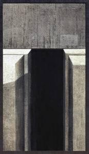 Na krawędzi światła - Ewa Zawadzka (2019), obraz na płótnie wykonany techniką własną