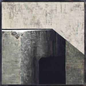 Z cyklu Materia ciszy - Ewa Zawadzka (2018), obraz na płótnie wykonany techniką własną