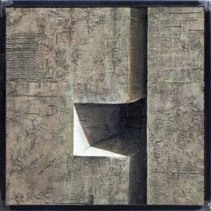Z cyklu Ściany świata - Ewa Zawadzka (2018), obraz na płótnie wykonany techniką własną