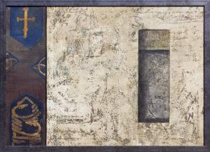 Z cyklu Ściany świata (katedra ormiańska) - Ewa Zawadzka (2018), obraz na płótnie wykonany techniką własną