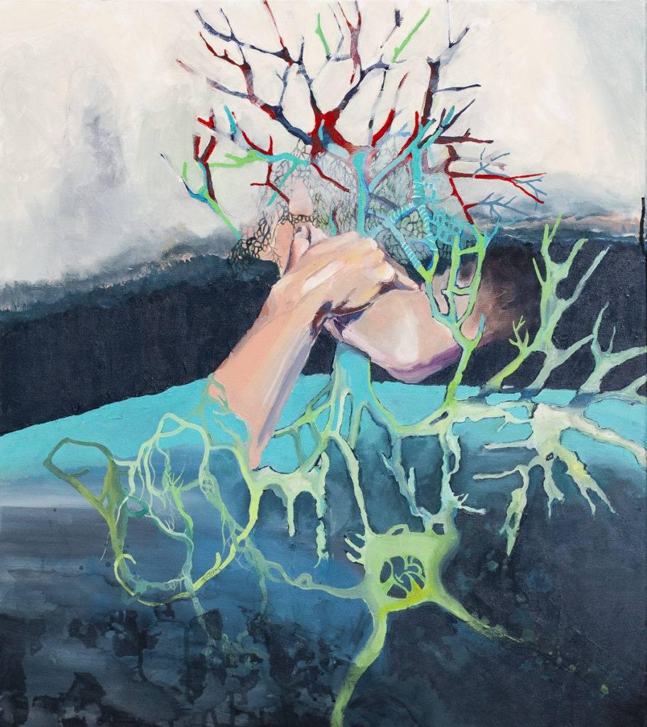 Zmierzch Lasów Deszczowych - Bartłomiej Michał Górecki (2019), obraz akrylowy na płótnie