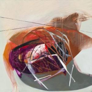 Podziały 2 - Agata Czeremuszkin-Chrut (2016), obraz akrylowo-olejny na płótnie