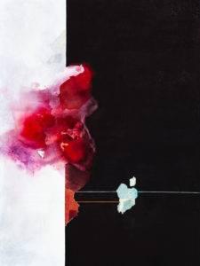 Osobliwość nr 7 Mirah - Aleksandra Tracz (2018-2019), kolaż, akryl na płótnie