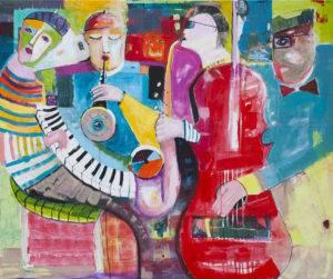 Dźwięk ciszy nr 2 - Mirosław Nowiński (2019), obraz akrylowy na płótnie