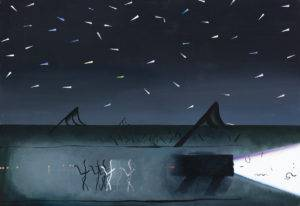 90 km - Kacper Woźny (2019), obraz olejny na płótnie