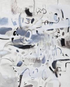 Im głośniej krzyczysz tym mniej Cię̨ słucham - Daria Pyrchała (2019), obraz olejny na płótnie