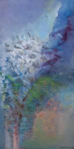 O świcie - Barbara Bielecka-Woźniczko (2014), obraz olejny na płótnie