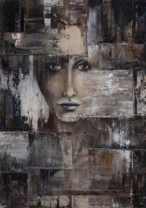 Face 3 - Dorota Golińska (2019), obraz olejny na płótnie