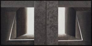 zapis światła - Ewa Zawadzka (2019), obraz na płótnie wykonany techniką własną