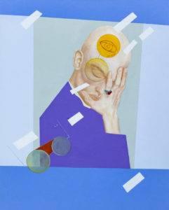 Mężczyzna - Klaudia Funkiewicz (2018), obraz akrylowy na płótnie