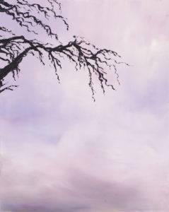 Okno - Yuliya Stratovich (2019), obraz akrylowy na płótnie