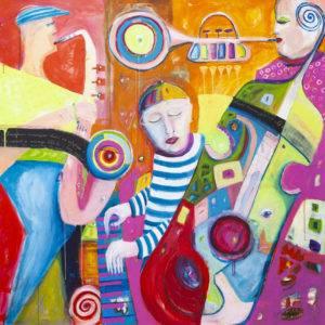 Dźwięk Ciszy nr 4 - Mirosław Nowiński (2019), obraz akrylowy na płótnie