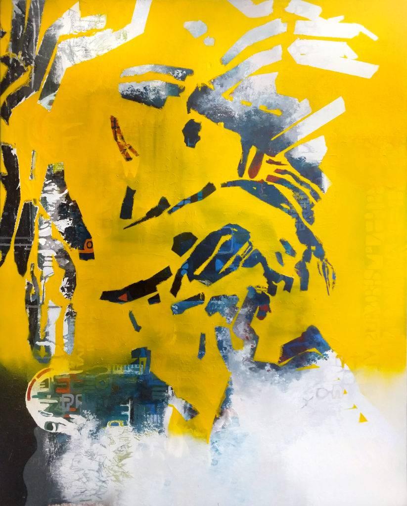Zima 1 - Bartłomiej Michał Górecki (2019), obraz akrylowy na płótnie