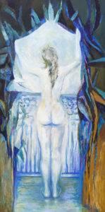 Spojrzenie w przyszłość - Barbara Bielecka-Woźniczko (2010/2019), obraz akrylowy na płótnie