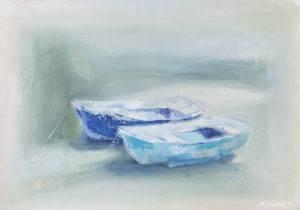 Rozmowa - Malwina Cieślik (2019), obraz olejny na płótnie