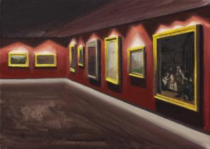 Muzeum I - Tymon Tryzno (2019), obraz olejny na płótnie