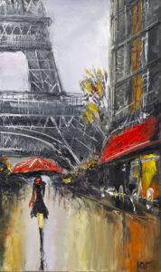 Paryż - Yulia Gurzhiyants (2019), obraz olejny na płótnie