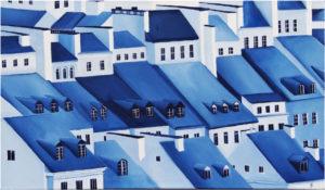 Old Town V - Beata Paziewska (2019), obraz akrylowy na płótnie