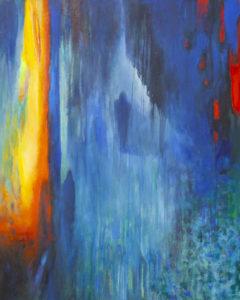 Znajdę cię… - Barbara Bielecka-Woźniczko (2019), obraz akrylowo-olejny na płótnie
