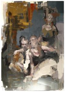 Bez tytułu (227) - Marcin Ziółkowski (2018), obraz olejny na płótnie