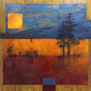Trzy Kolory - Beata Pałach (2019), obraz akrylowy na płótnie
