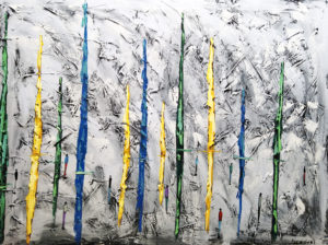 Cicha planeta - Filip Łoziński (2020), obraz olejno-akrylowy na płótnie