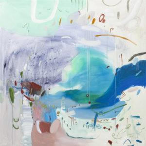 Nie do końca wiem, czy coś się wydarzy - Daria Pyrchała (2019), obraz olejny na płótnie