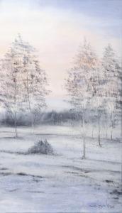 Brzask - Mariola Świgulska (2019), obraz olejny na płótnie