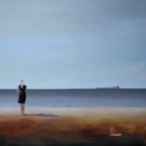 Między jawą a snem - Katarzyna Środowska (2019), obraz olejny na płótnie