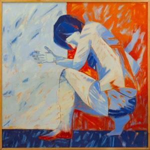 Próba VIII - Anna Drejas (2000), obraz olejny na płótnie