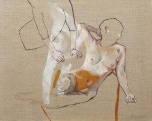 Paroksyton 12 - Marcin Dybowski (2019), obraz olejny na płótnie