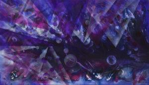 Geometryczne wizje kosmosu - Mariola Świgulska (2019), obraz akrylowy na płótnie