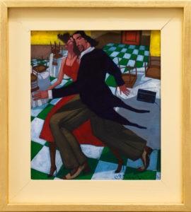 Tango memento vitae - Jacek Pałucha (2013), obraz olejny na płótnie