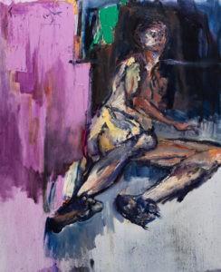 Akt - Tadeusz Świniarski (2020), obraz olejny na płótnie