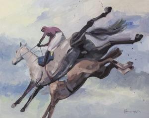 Koń Kompromis - Maciej Kempiński (2019), obraz akrylowy na płótnie