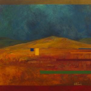 Pejzaż stepowy - Beata Pałach (2020), obraz akrylowy na płótnie