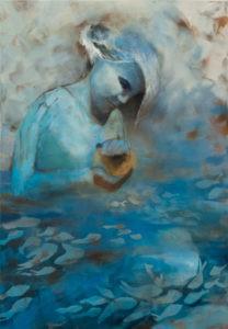 Odnalezienie - Aleksandra Maszestow (2019), obraz akrylowy na płótnie