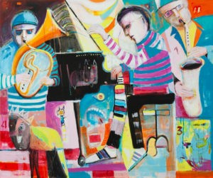 Dźwięk ciszy nr 3 - Mirosław Nowiński (2019), obraz akrylowy na płótnie